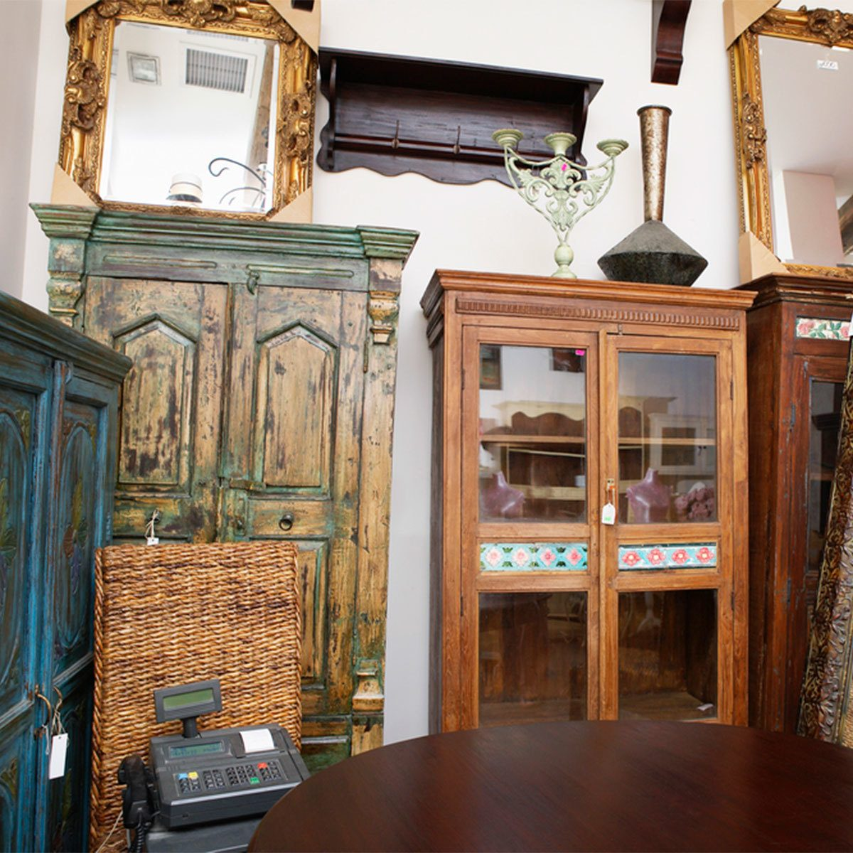 furniture store antiques old bookcases