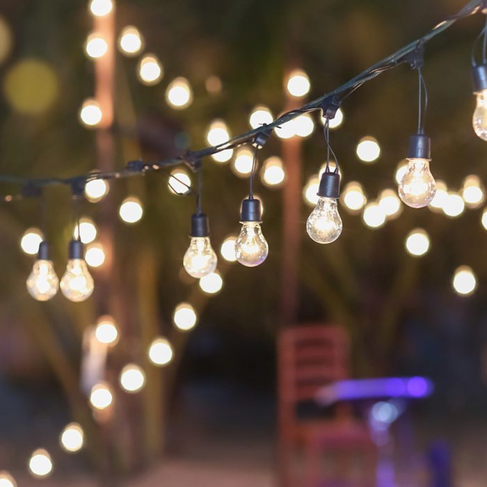 Makeshift Canopy: Canopy String Lights