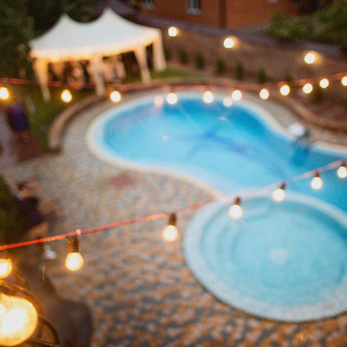 Backyard String Lights Ideas: Water Lights