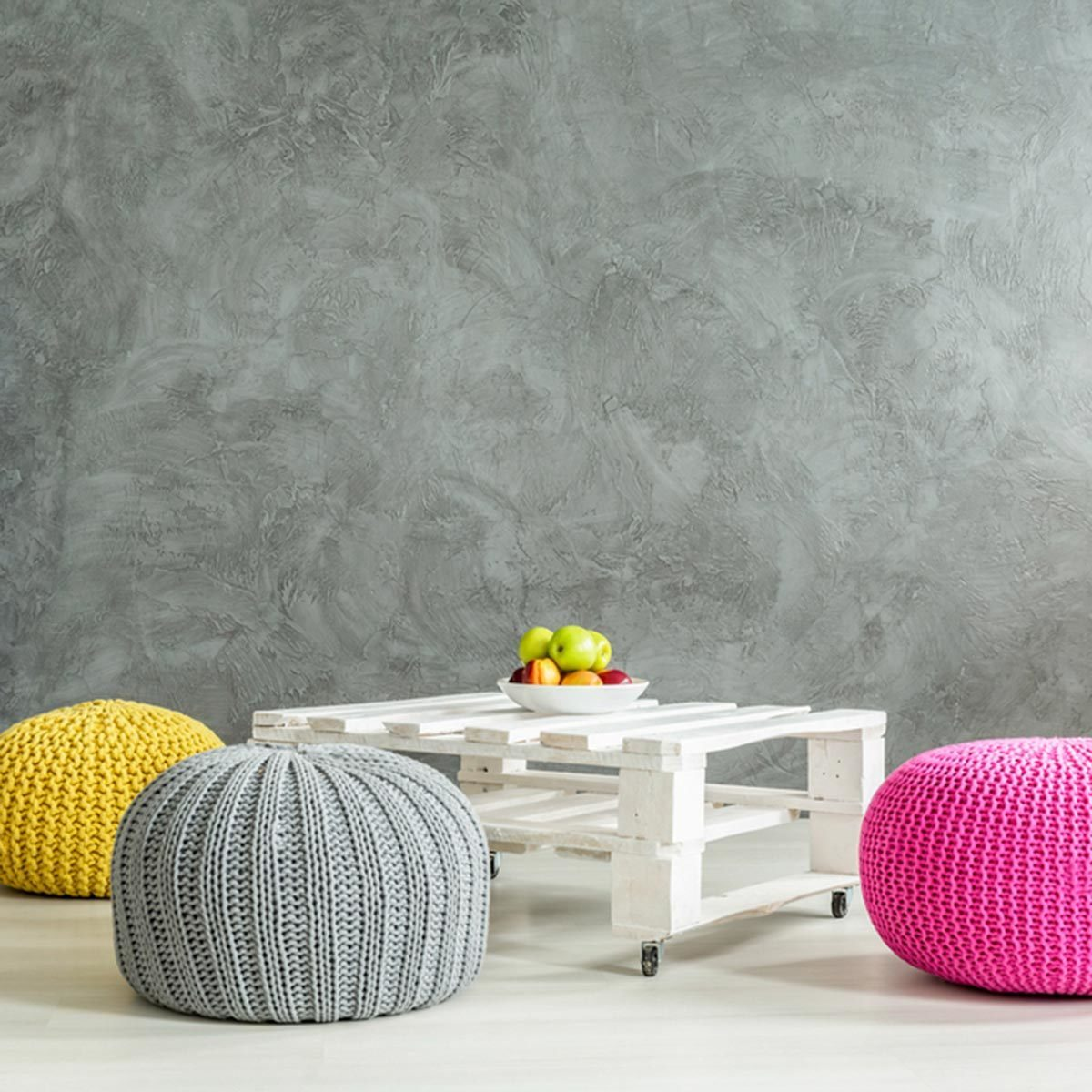 Replace Floor Pillows with Poufs