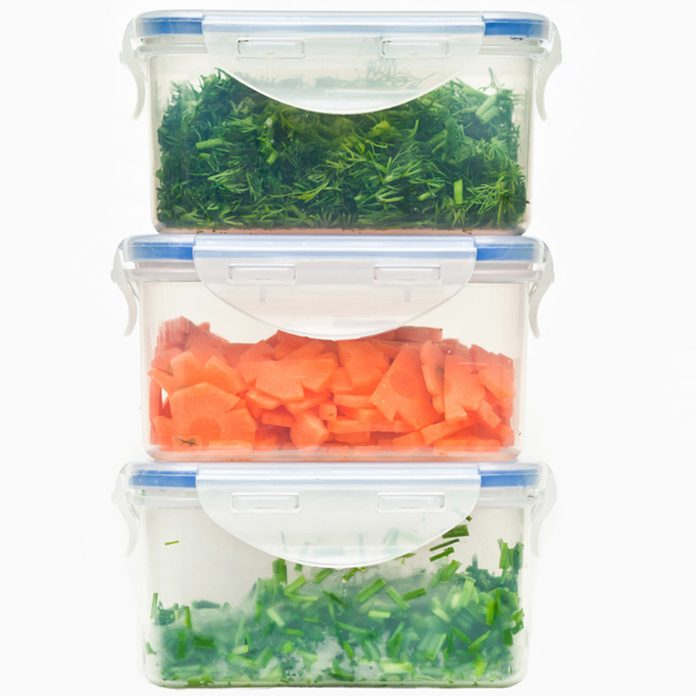 Protect Your Food tupperware fresh vegetables