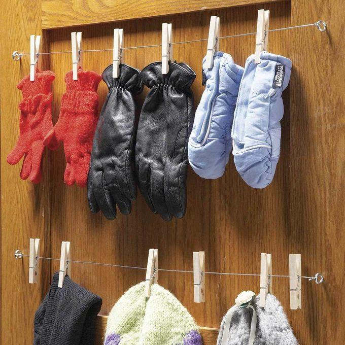 Glove and Mitt Storage