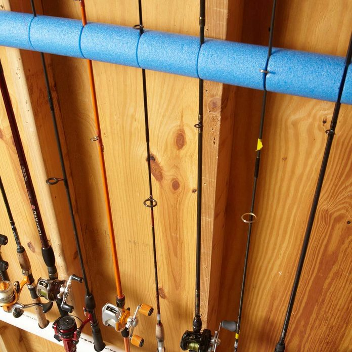 Fishing Rod Organizer pool noodles