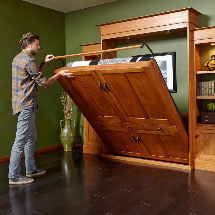Install a Wall-Bed-Bookcase Combo