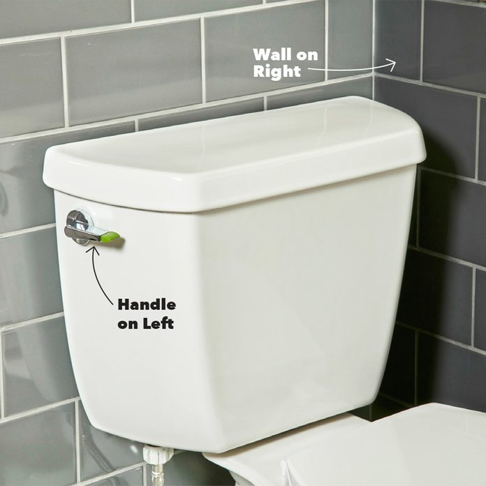 flush handle toilet