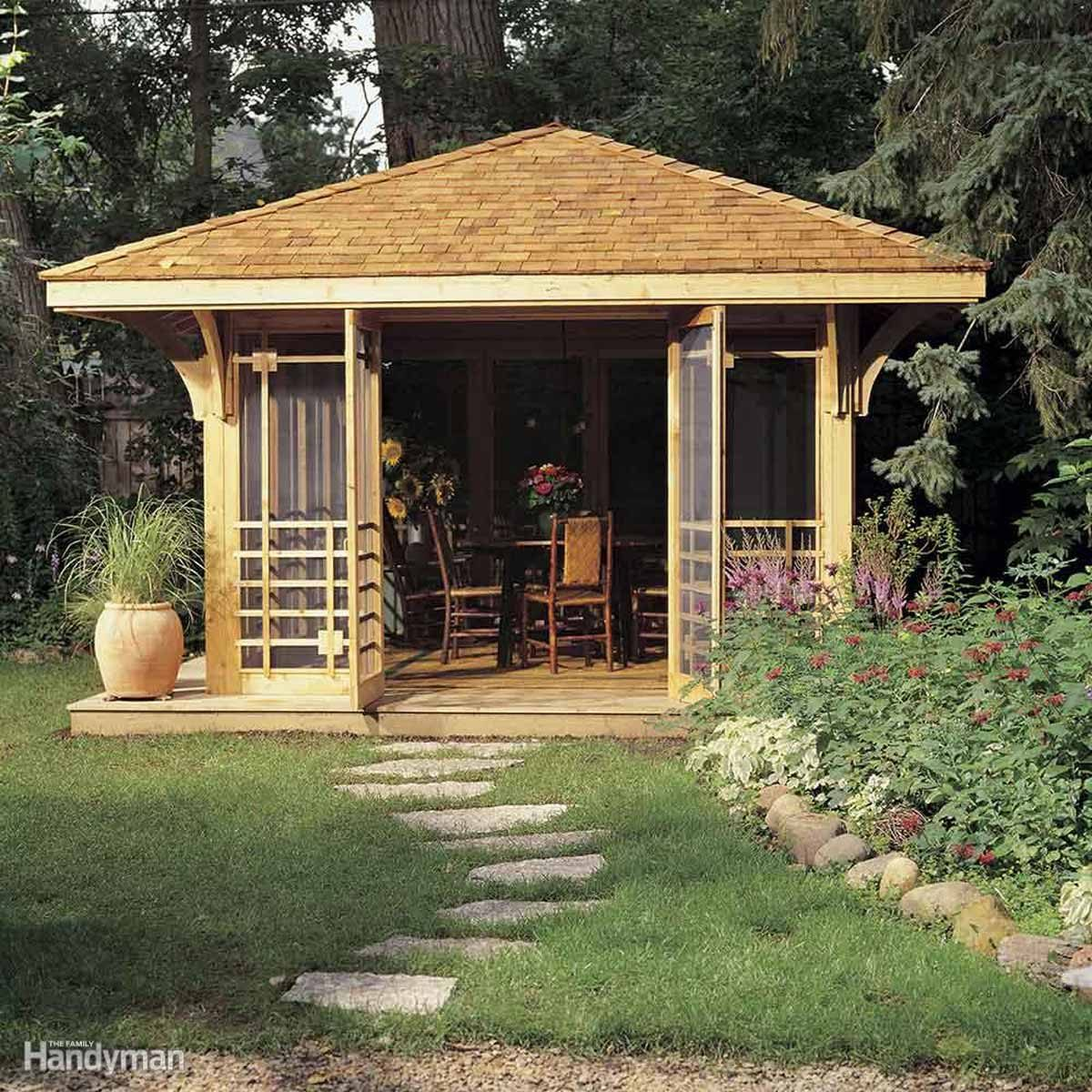 shed diy backyard idea screened in porch oasis