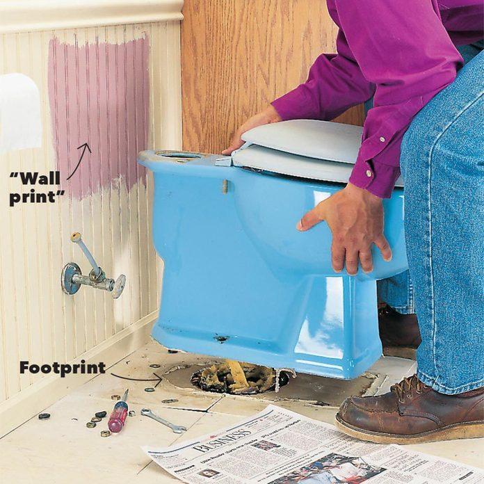 wall print toilet
