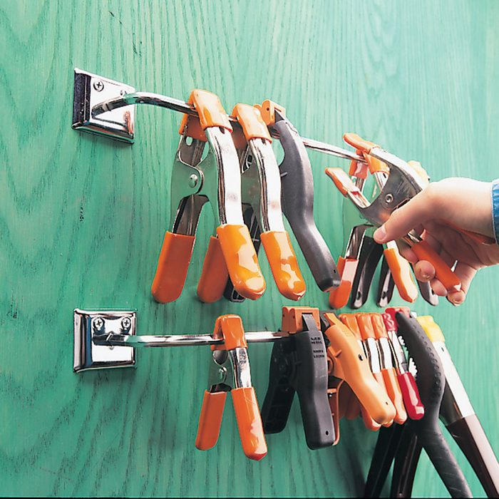 Clamps hanging from towel racks | Construction Pro Tips