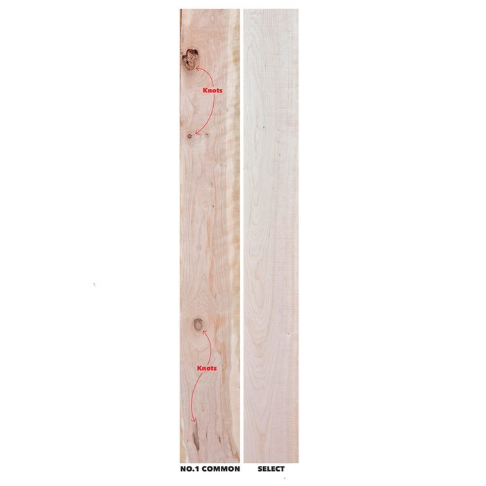 Use Lower-Grade Lumber and Save