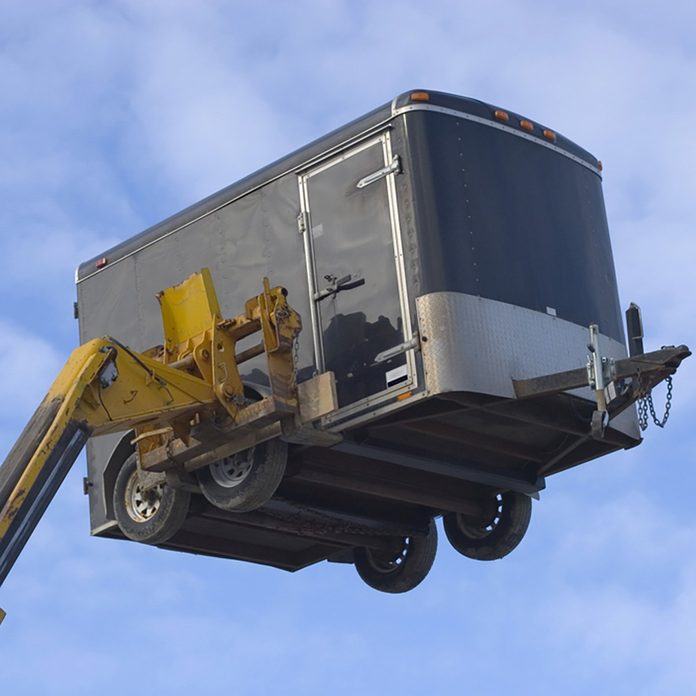 A trailer on a fork lift   Construction Pro Tips