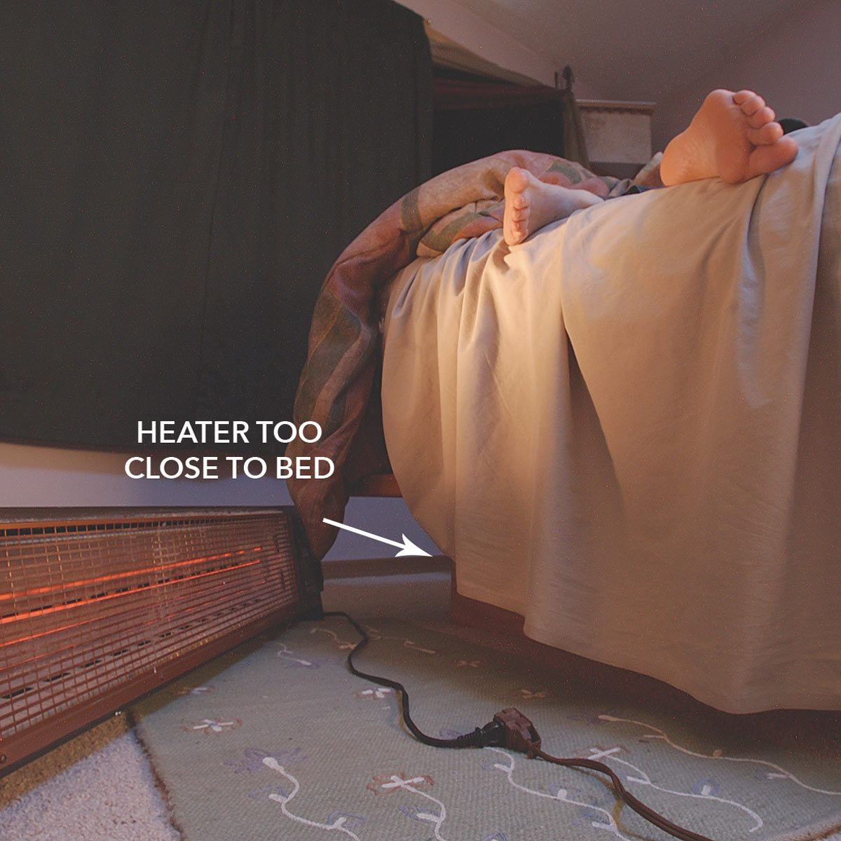 Don't Leave Space Heater Unattended