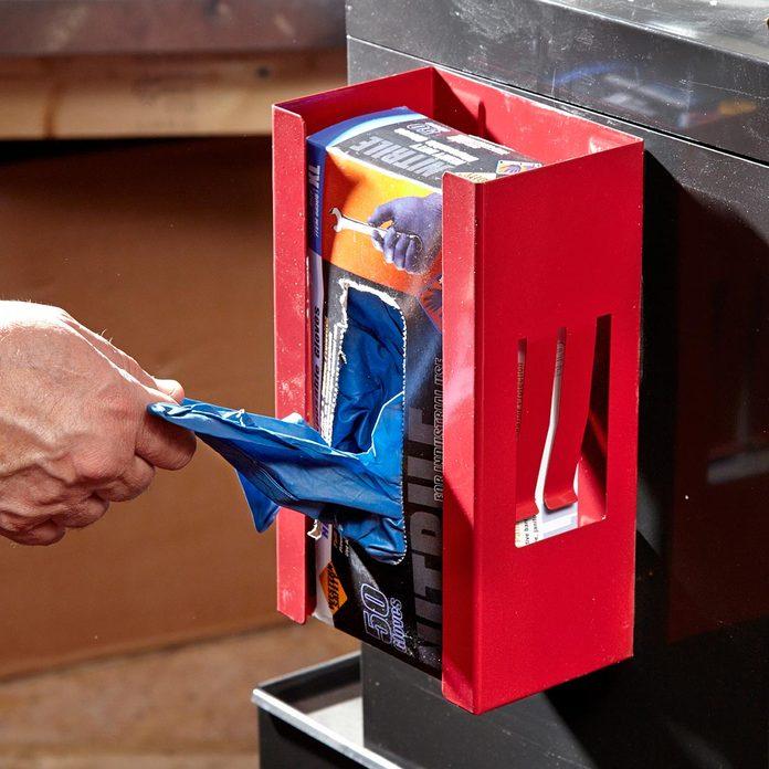 Glove storage