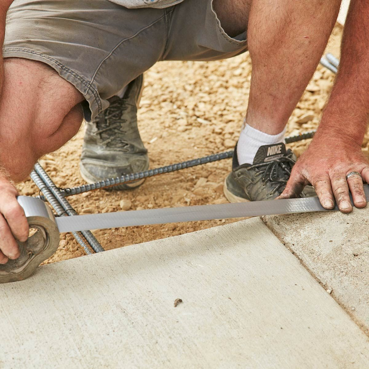 Protect adjoining concrete