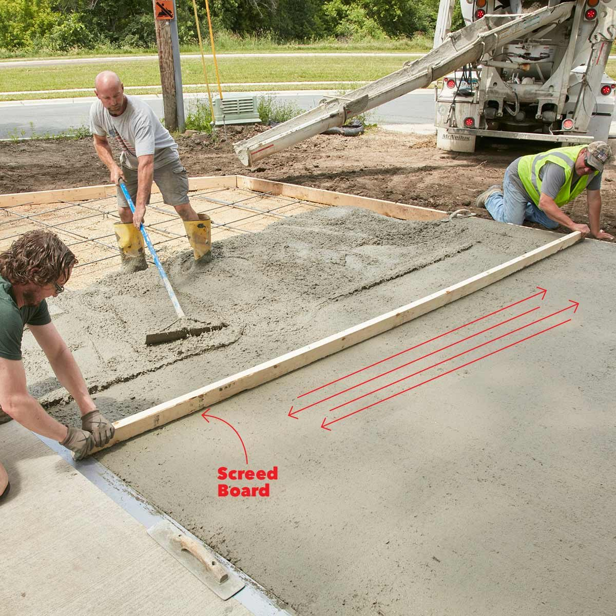 Screed board slide