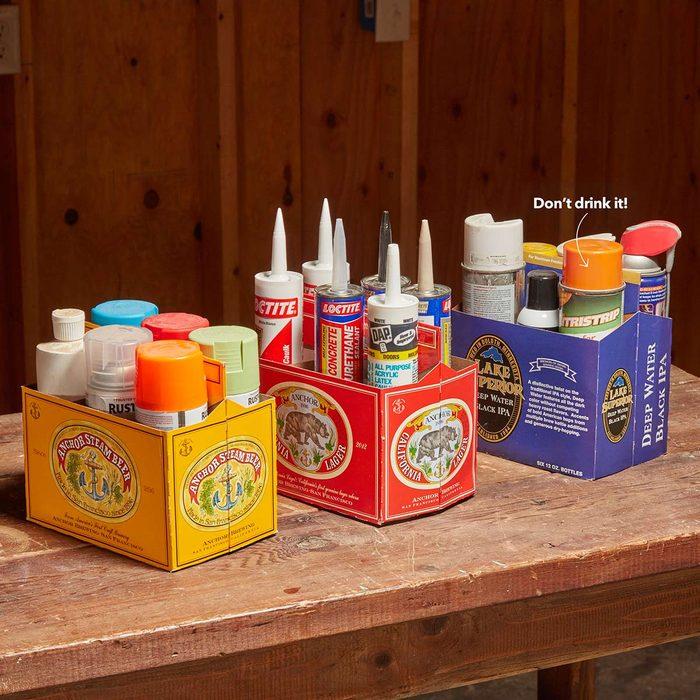 Six-Pack Shop Organizer