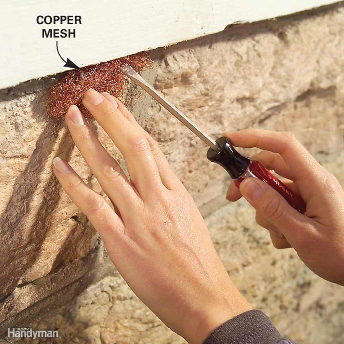 copper mesh for pest control