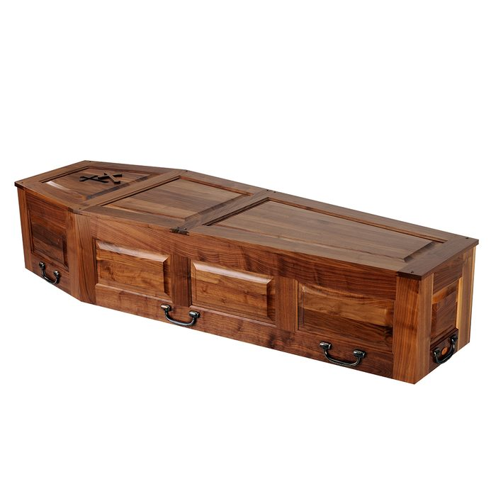 A stained and embossed coffin | Construction Pro Tips