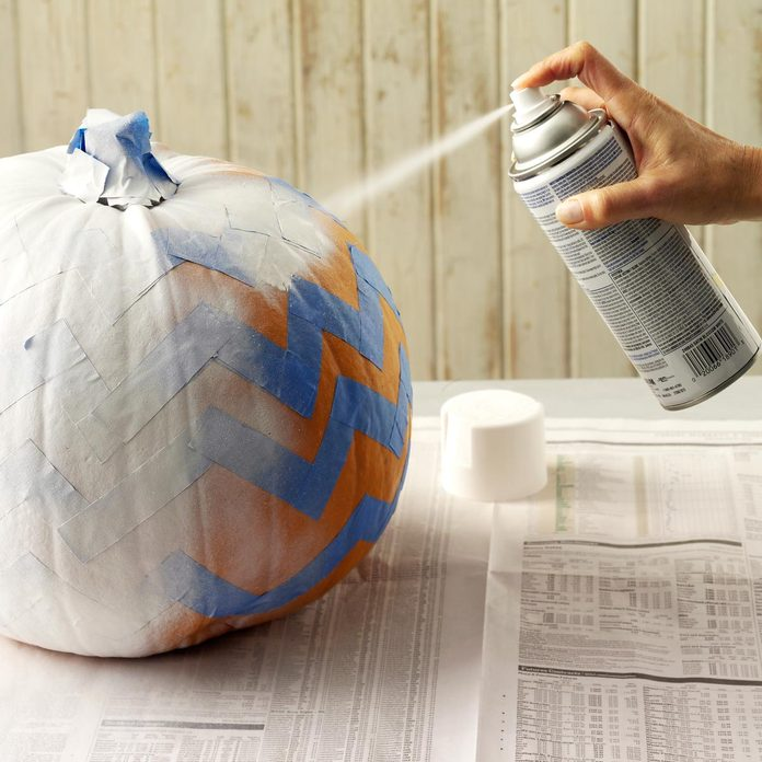 pumpkin spray paint
