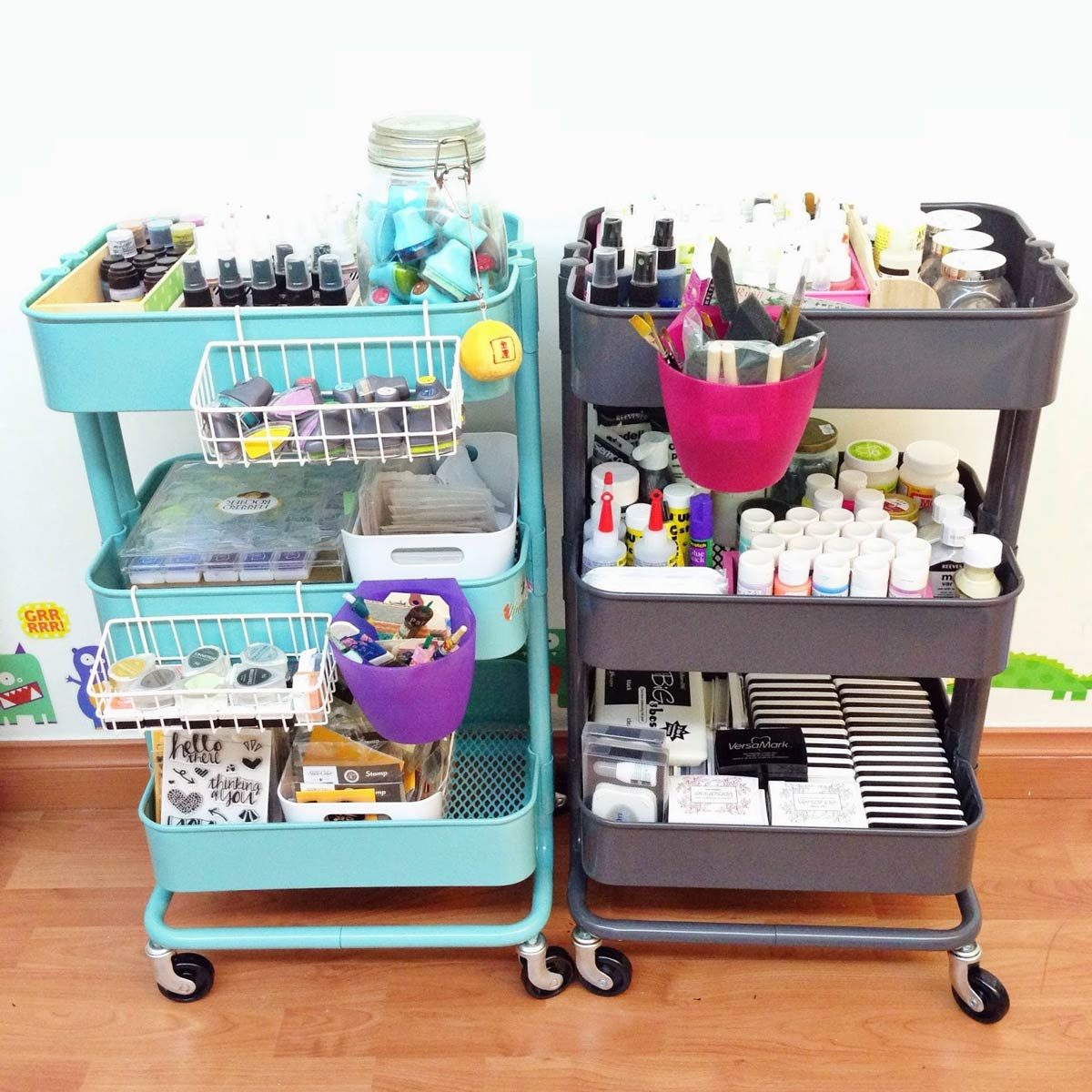 aadfh17aug019aa_10 Utilize a Kitchen Cart craft storage