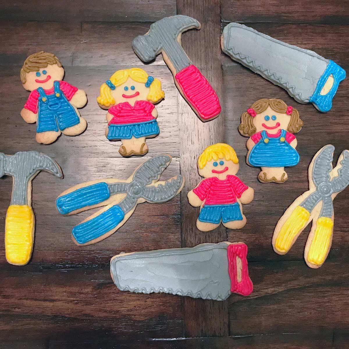 handyman cookies and tool cookies