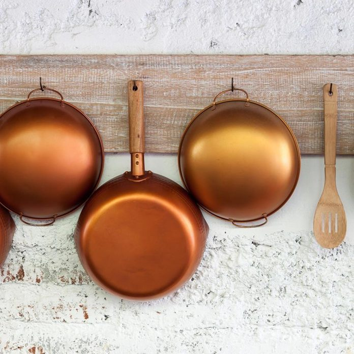 dfh17sep043-11 copper hanging pots and pans kitchen
