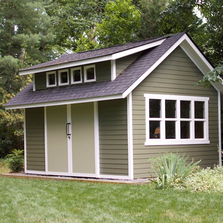 green garden shed lead