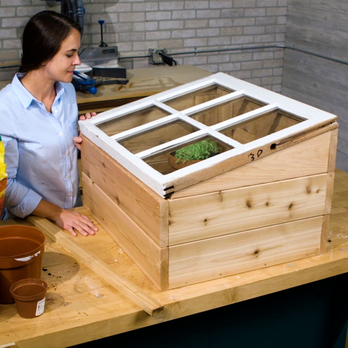 mini greenhouse with old window deck greenhouse