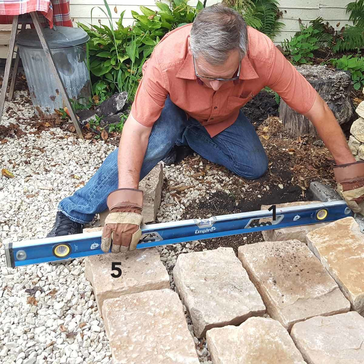 pavers_14 level the other side of the pavers