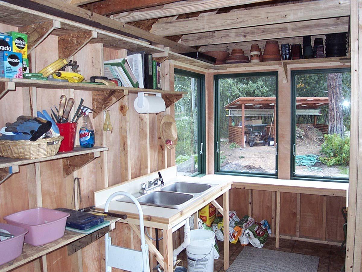 inside franks ultimate garden shed