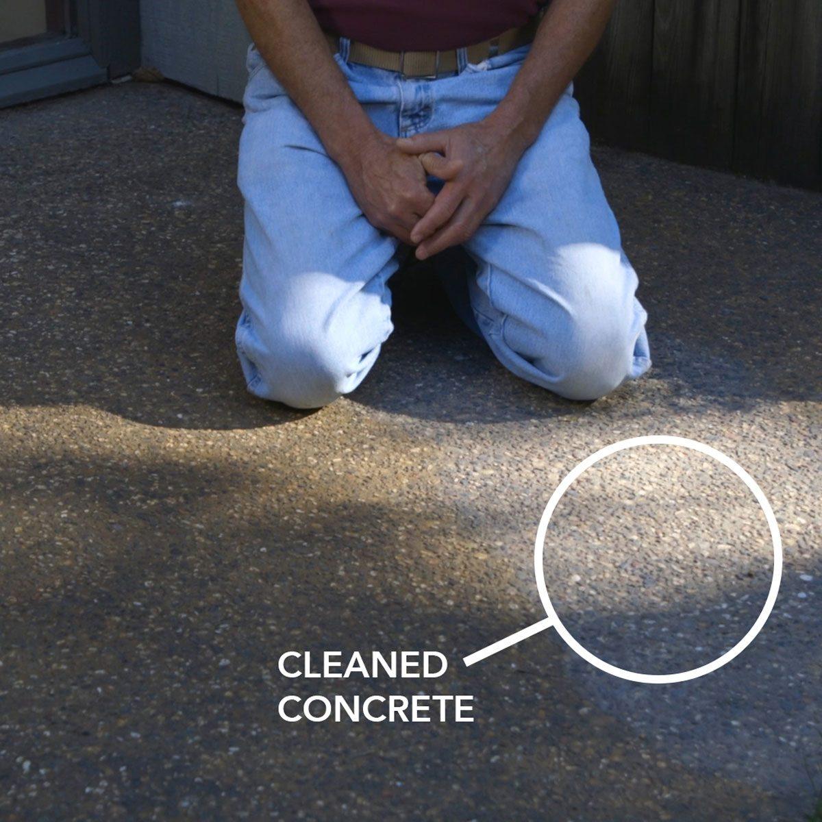 rusty concrete slab