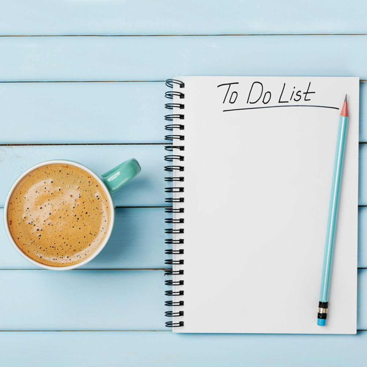 shutterstock_384639760 to do list with coffee late paper pencil notebook