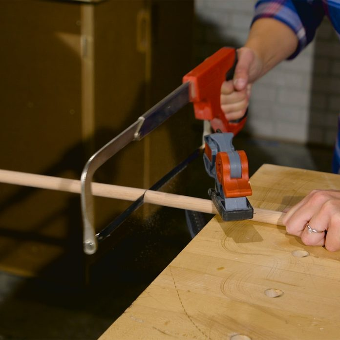 tablet stand cut dowels