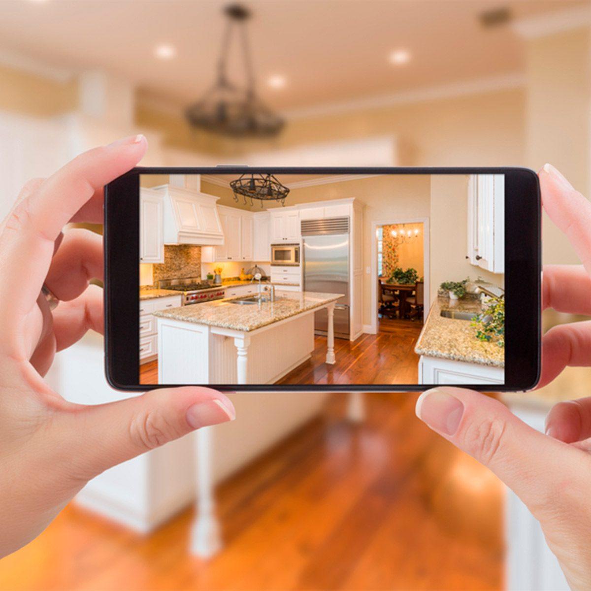 smartphone photo of kitchen