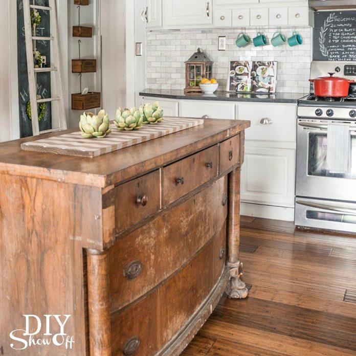17oct82_01 dresser to kitchen island