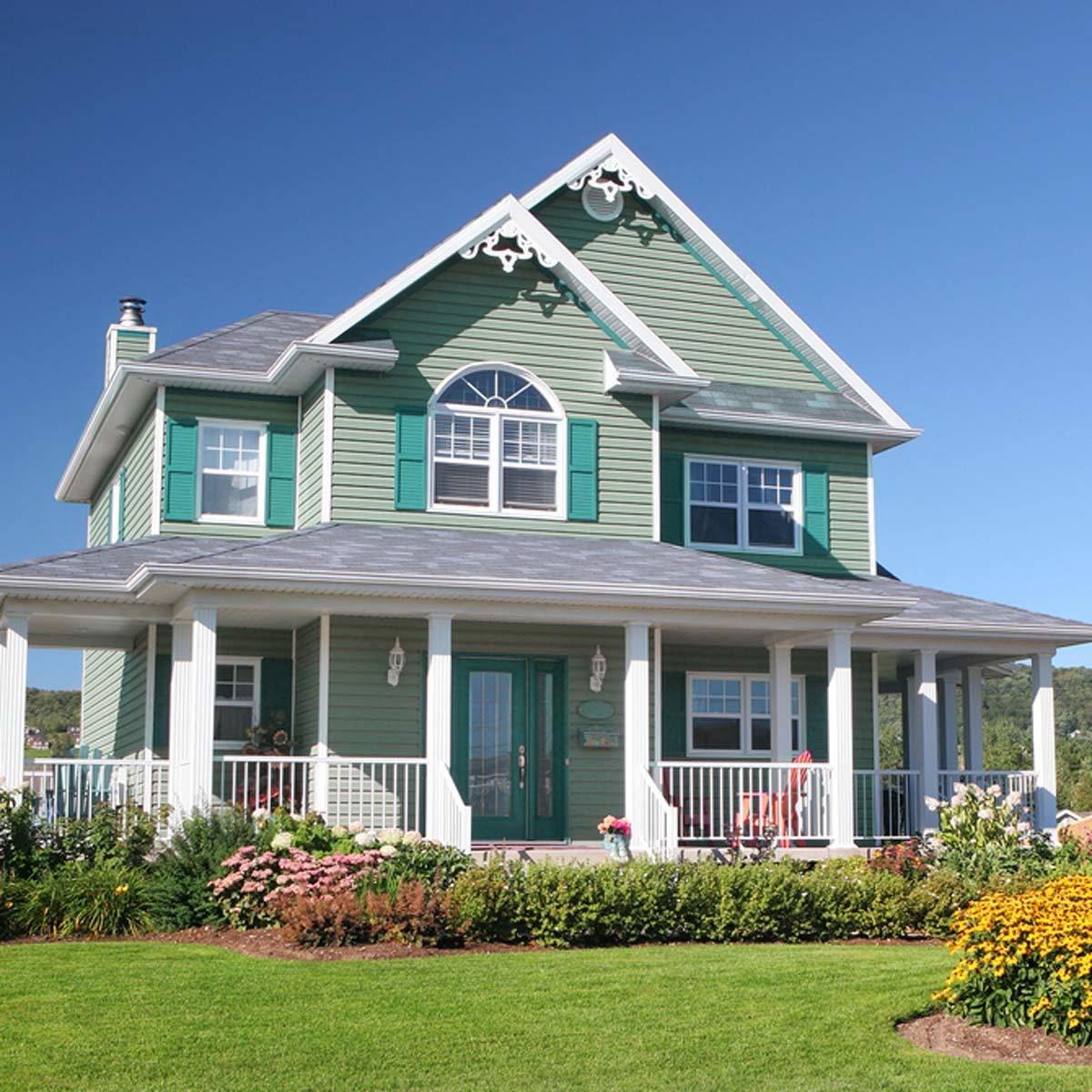 victorian exterior home color green