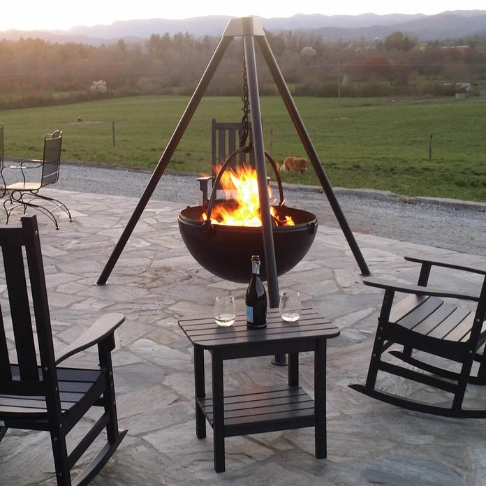 Cauldron fire pit