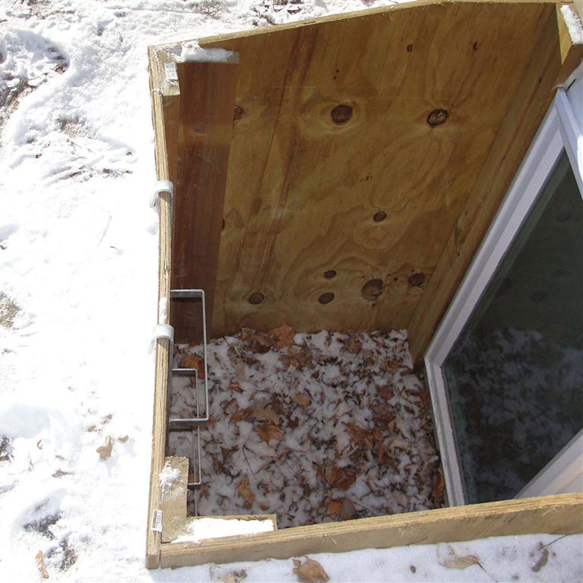 Plywood window well