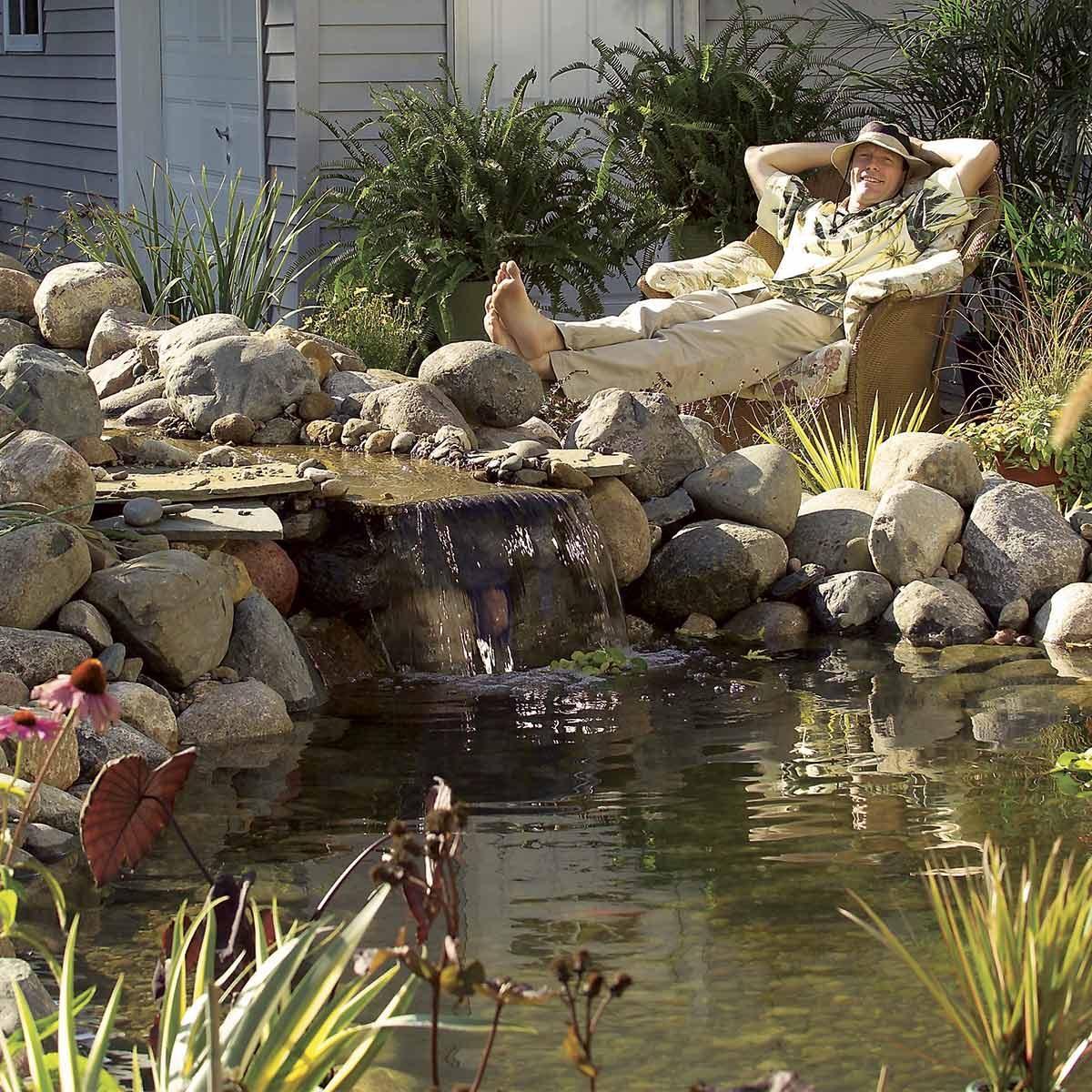backyard pond project