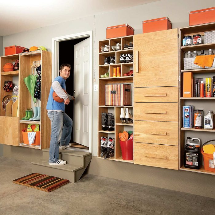 Garage Mudroom Organization