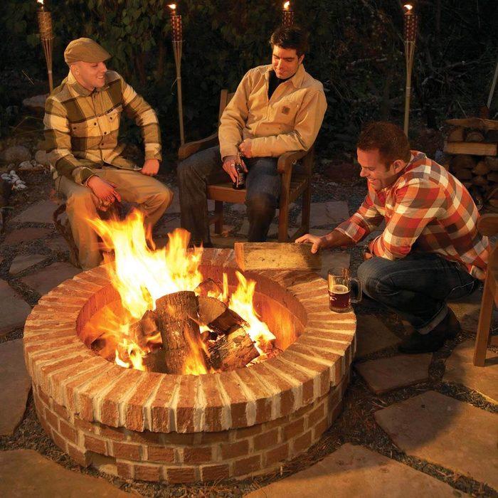Backyard fire pit