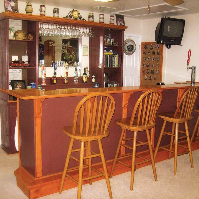 Man cave bar or pub