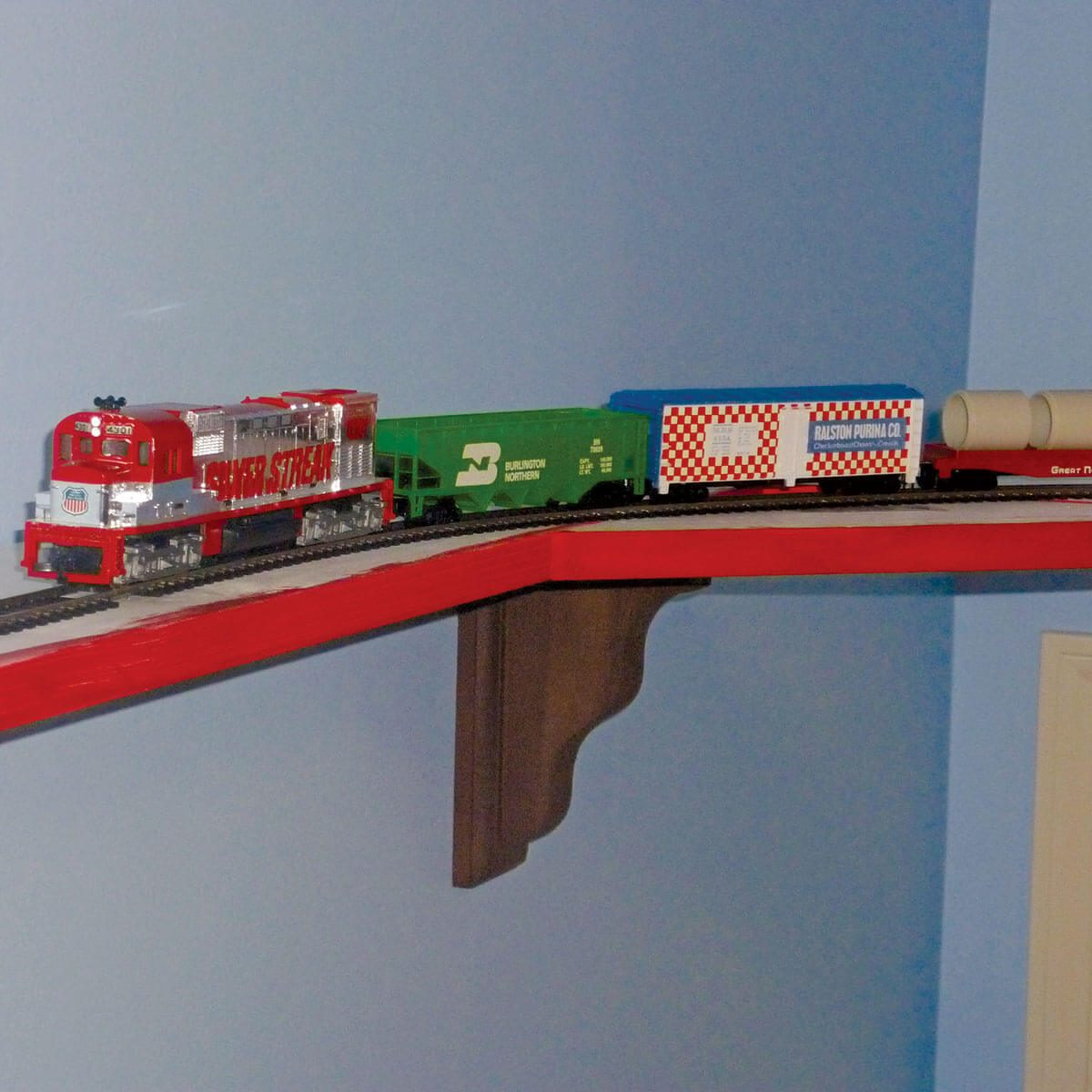 Bedroom train track