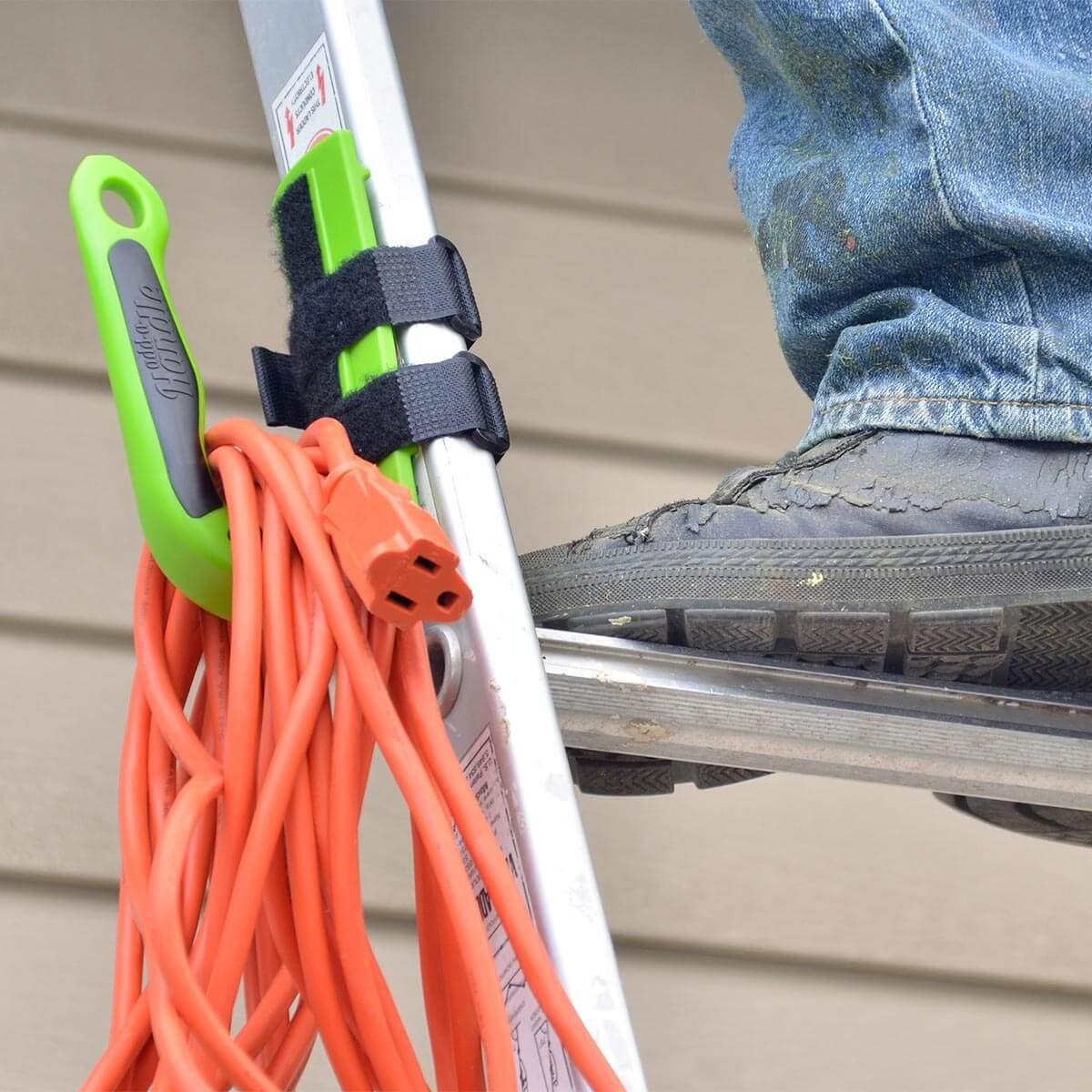 add-a-handle cord storage on ladder