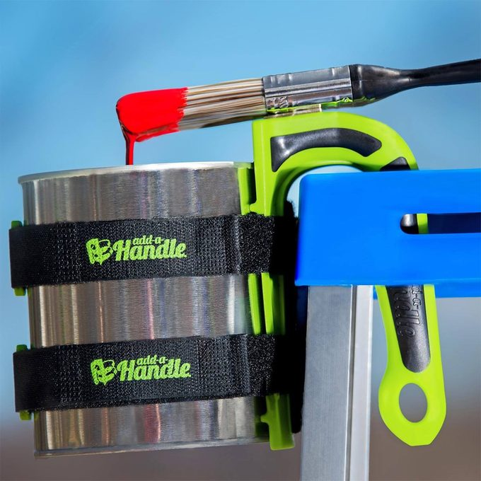 add-a-handle hanging paint can on ladder