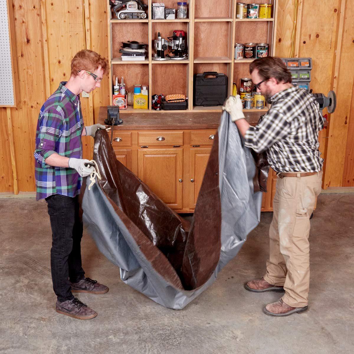 Handy Hint tarp cement mixer lifting