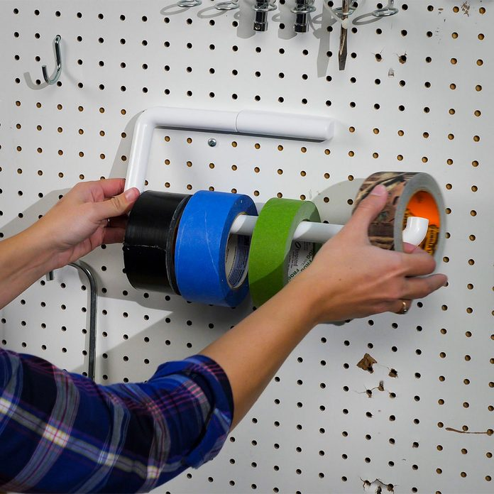 paper towel holder tape storage