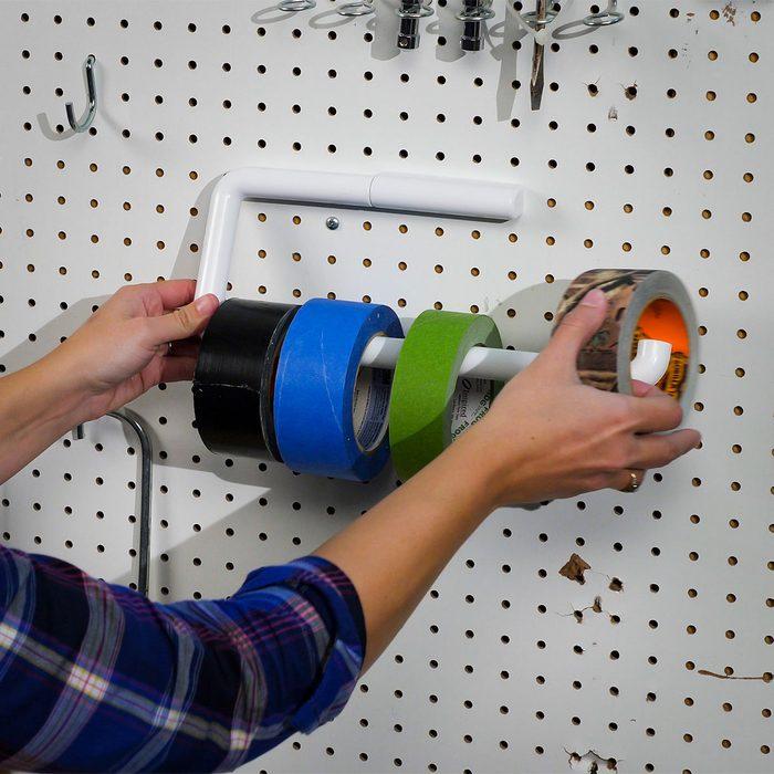 Paper Towel Holder Tape Storage