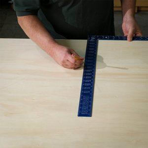 draw line down edge of square