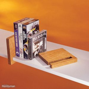 sliding wooden bookend