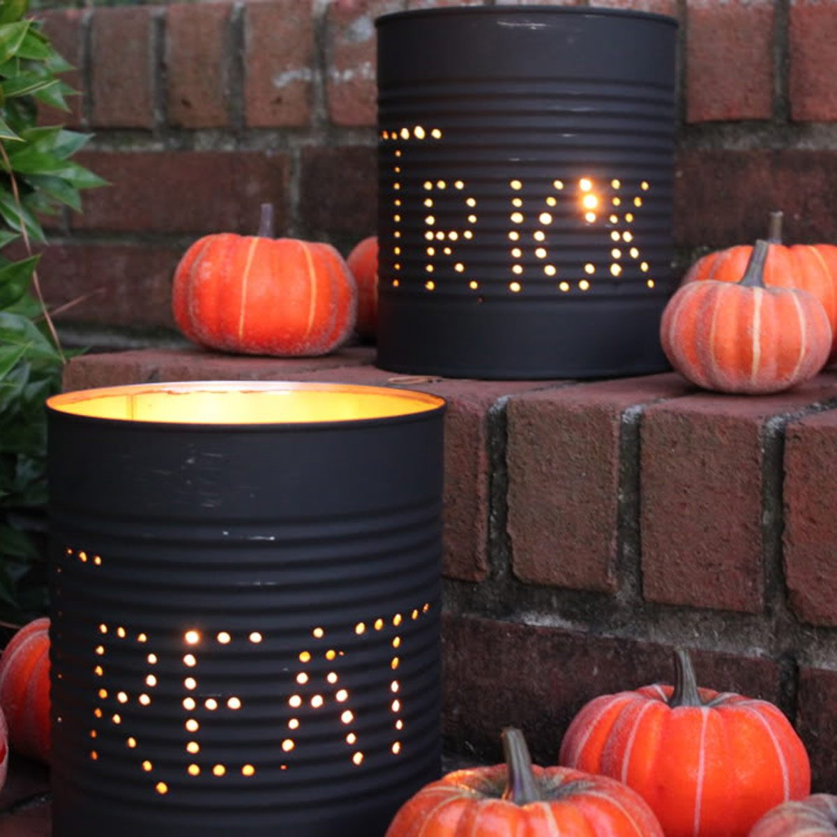 Tin Can Luminaries Halloween